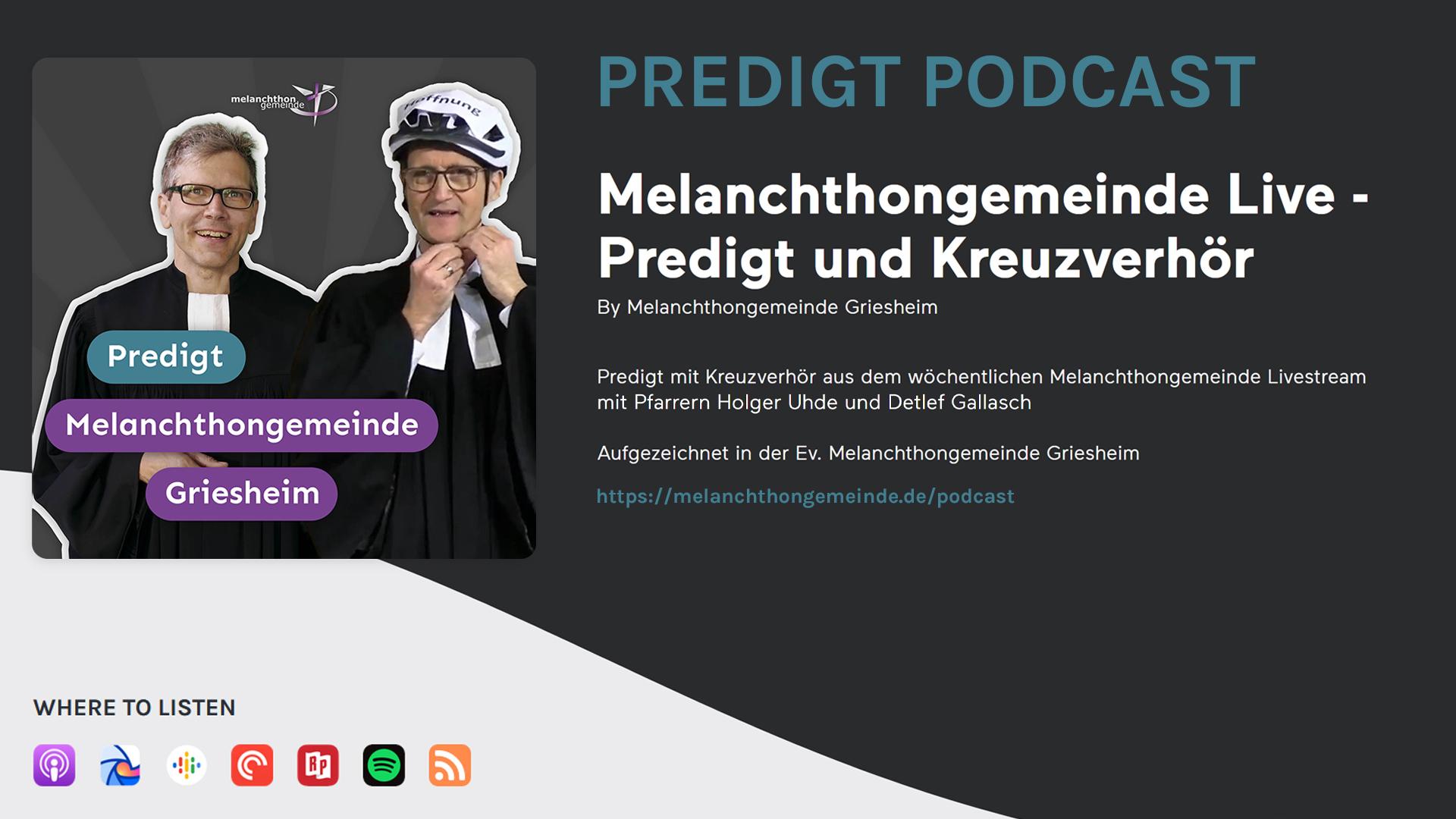 Melanchthon podcast
